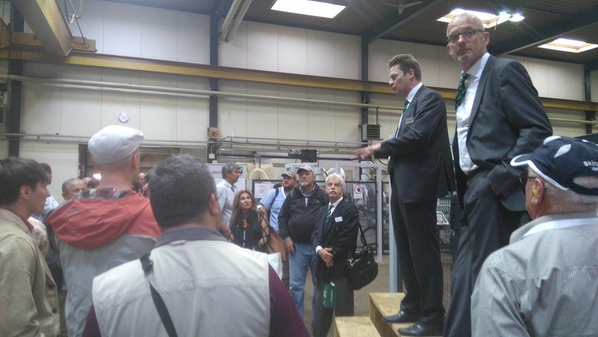 Eesti puidu- ja mööblitööstuse ettevõtjate külastus Weinig Grupp AS Greconi tehases Saksamaal